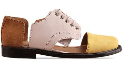 Minimarket-shoes-Flat-Lace-Up-Cut-Out-(Brown-Yellow-Beige)-010604