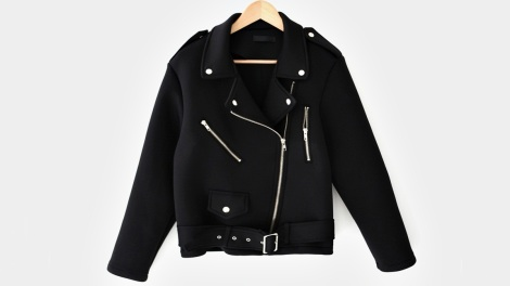 Neoprene Moto Jacket in Black
